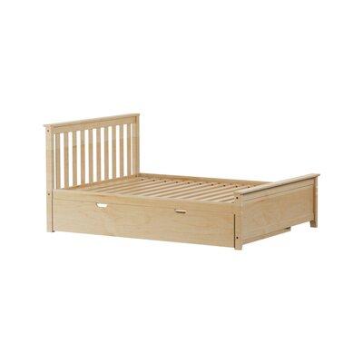 Solid Wood Full Platform Bed with Trundle Frame Finish: Natural