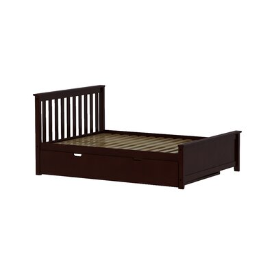 Solid Wood Full Platform Bed with Trundle Frame Finish: Espresso