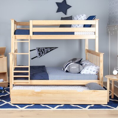 Solid Wood Twin Over Full Bunk Bed with Trundle Bed Finish: Natural