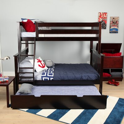 Solid Wood Twin Over Full Bunk Bed with Trundle Bed Finish: Espresso