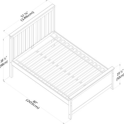 Solid Wood Full Platform Bed with Under Bed Storage Drawer Finish: Natural