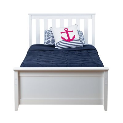 Solid Wood Twin Platform Bed Color: White