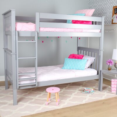 Solid Wood Twin Bunk Bed Finish: Gray