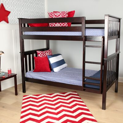 Solid Wood Twin Bunk Bed Finish: Espresso