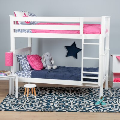 Solid Wood Twin Bunk Bed Finish: White