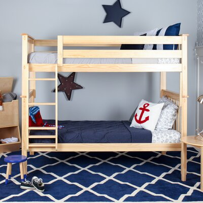 Solid Wood Twin Bunk Bed Finish: Natural