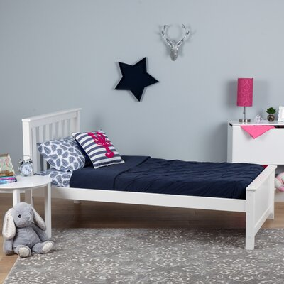 Solid Wood Twin Platform Bed Finish: White