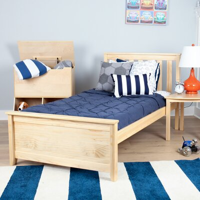 Solid Wood Twin Platform Bed Finish: Natural