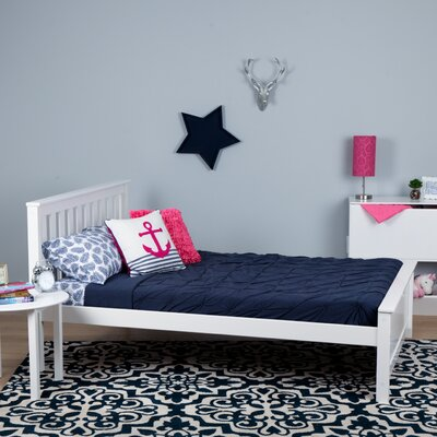 Solid Wood Full Platform Bed Finish: White