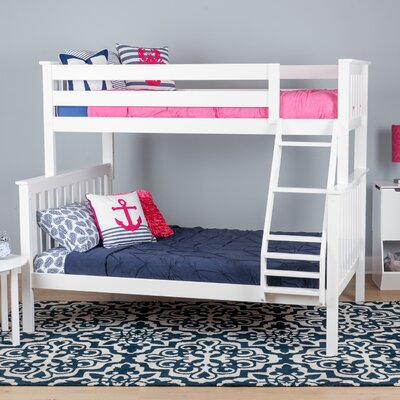 Solid Wood Twin Over Full Bunk Bed Finish: White