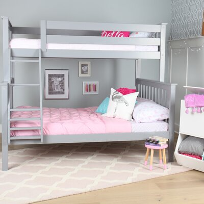 Solid Wood Twin Over Full Bunk Bed Finish: Gray