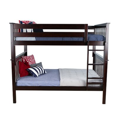 Solid Wood Bunk Bed Size: Twin over Full, Bed Frame Color: Espresso