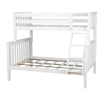 Solid Wood Bunk Bed Size: Twin over Full, Bed Frame Color: White
