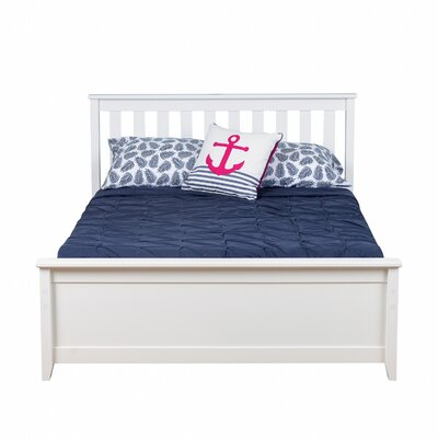 Solid Wood Full Platform Bed with Trundle Frame Color: White