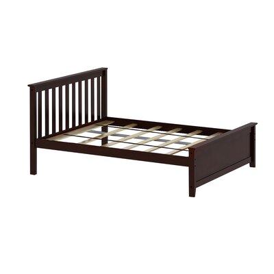 Solid Wood Full Platform Bed Color: Espresso