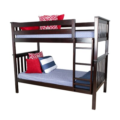 Twin over Twin Bunk Bed Color: Espresso