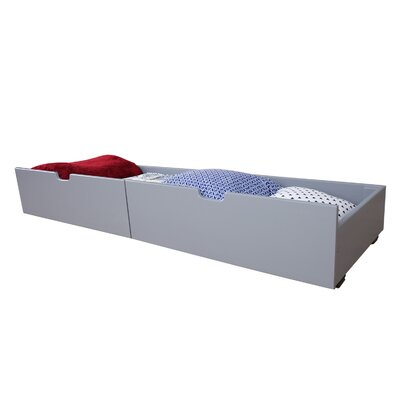 Solid Wood Underbed Storage Drawer Color: Gray