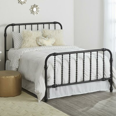 Monarch Hill Wren Slat Bed Size: Twin, Finish: Black
