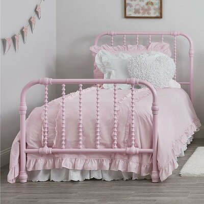 Monarch Hill Wren Slat Bed Size: Twin, Finish: Pink