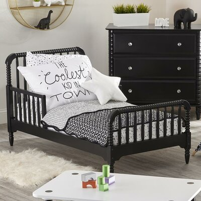 Rowan Valley Linden Toddler Slat Bed Finish: Black