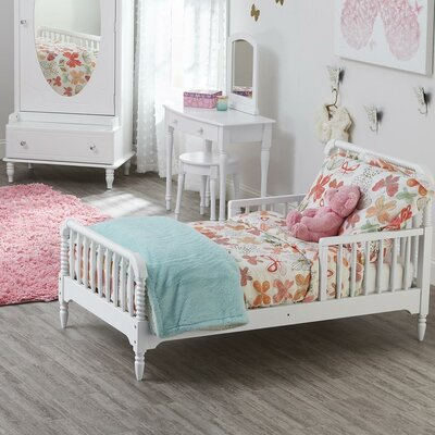 Rowan Valley Linden Toddler Slat Bed Finish: White