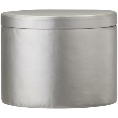 Storage Ottoman Upholstery: Silver