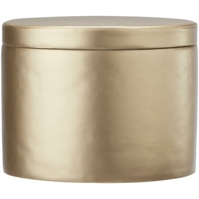 Storage Ottoman Upholstery: Gold