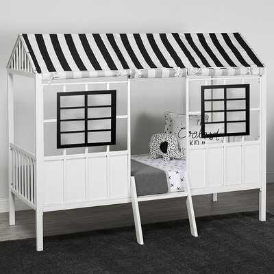 Rowan Valley Forest Twin Loft Bed Color: Black/White