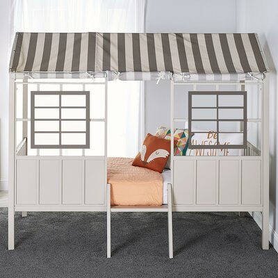 Rowan Valley Forest Twin Loft Bed Color: Gray/Taupe