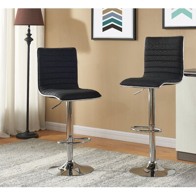 Diann Bar Stool Fabric: Black Fabric