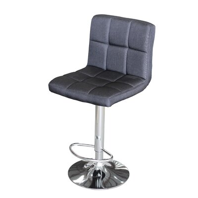 Attalus Adjustable Swivel Bar Stool Fabric: Black Fabric