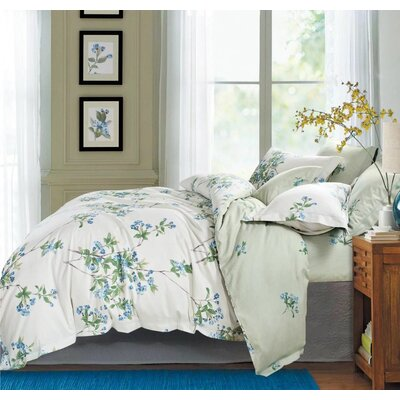 Cottage Country Style 3 Piece Duvet Cover Set  Size: King