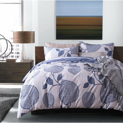 Neville Modern Geo Reversible Duvet Cover Set Size: Queen