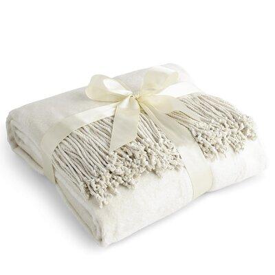 Pelagios Pure 100% Silk Throw Color: Off White