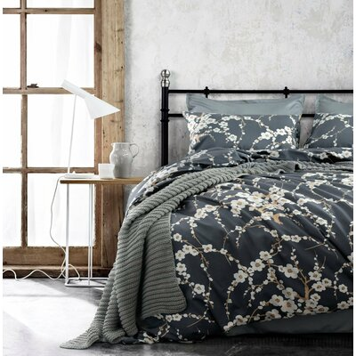 Haitham Print 100% Cotton 3 Piece Duvet Set Size: Queen