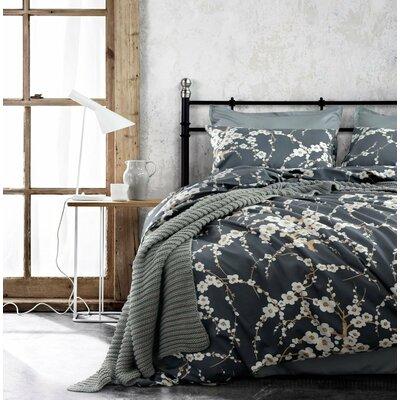 Haitham Print 100% Cotton 3 Piece Duvet Set Size: King