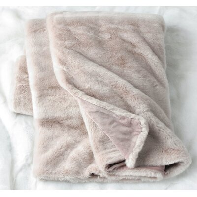 Tannehill Luxury Reversible Throw Color: Rose Dust