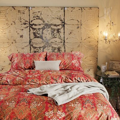 Newfield Boho Paisley Print Luxury Cotton 3 Piece Duvet Set Size: King