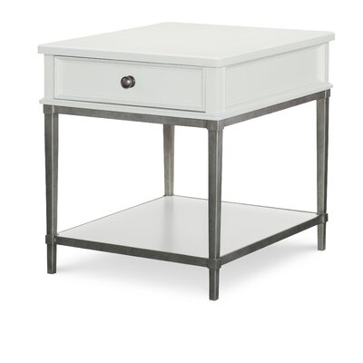 Upstate Metal Base End Table Color: Conciare