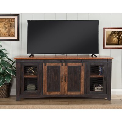 Karlo 65 TV Stand Color: Antique Black and Distressed Pine