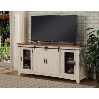Karlo 65 TV Stand Color: Antique White and Distressed Pine
