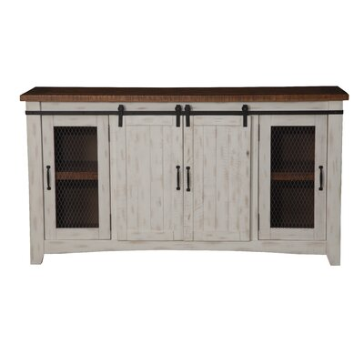 Santa Fe TV Stand Finish: Antique White and Distressed Pine