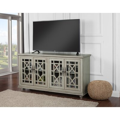 Belfast 63 TV Stand Color: Antique Silver