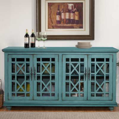 Belfast 63 TV Stand Color: Teal