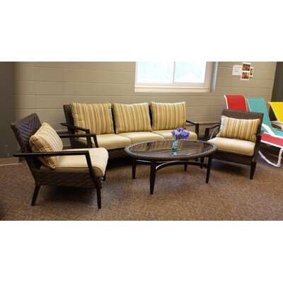 Favor 4 Piece Deep Seating Set with Cushions