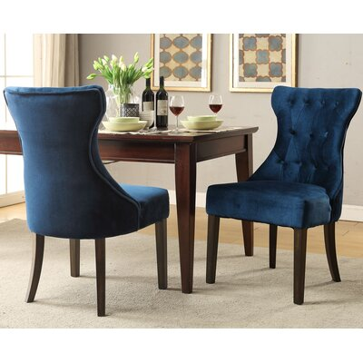 Delfin Upholstered Dining Chair Upholstery: Navy