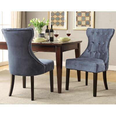 Delfin Upholstered Dining Chair Upholstery: Gray