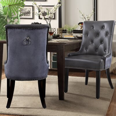 James Side Chair Upholstery: Grey