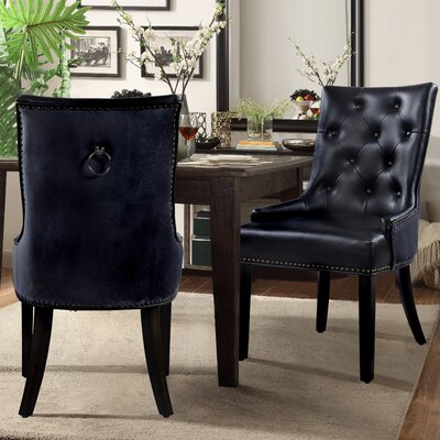 James Side Chair Upholstery: Black