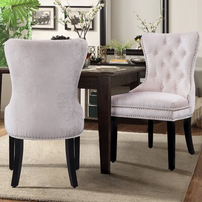 Diana Side Chair Upholstery: Beige